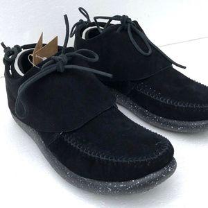 Worlboots Suede Moccasin Sneakers Unisex Black